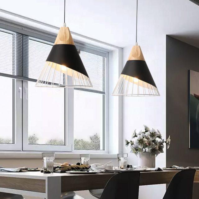Creative Aluminum Pendant Light with Incandescent Bulbs