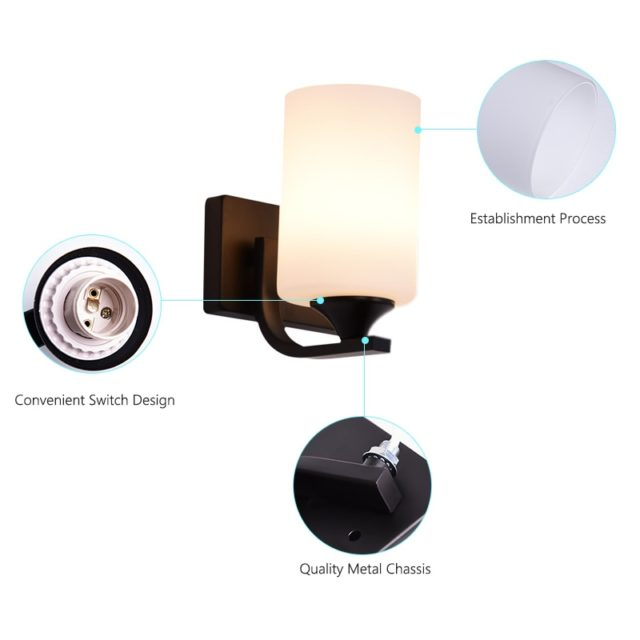 Simple Acrylic Wall Lamp with Black Base
