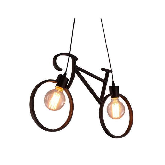Vintage Bicycle Shaped Pendant Lamp
