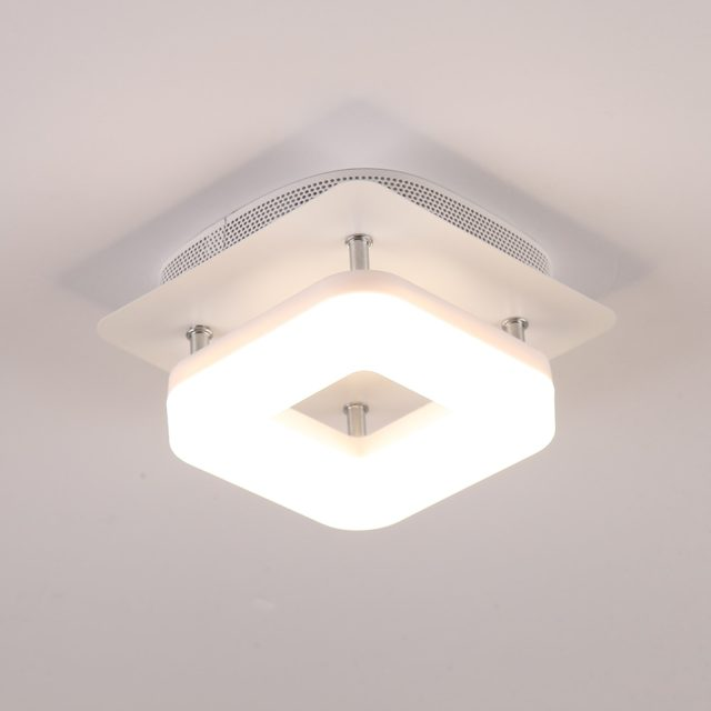 Modern Small Square Stainless Steel Ceiling Light