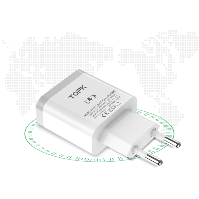 Universal Quick Charge 3.0 Charger for Smartphones and Other Devices