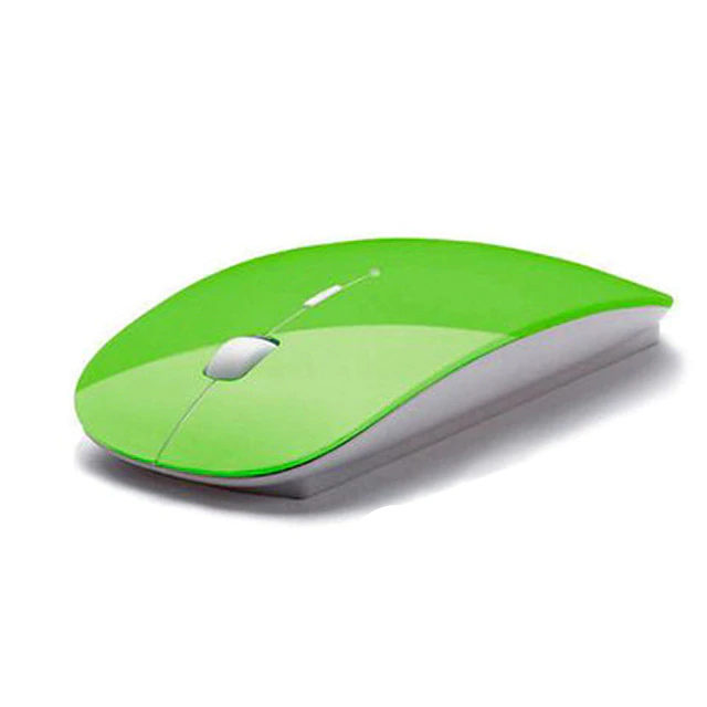 Thin Wireless Optical Mouse for Computers and Laptops
