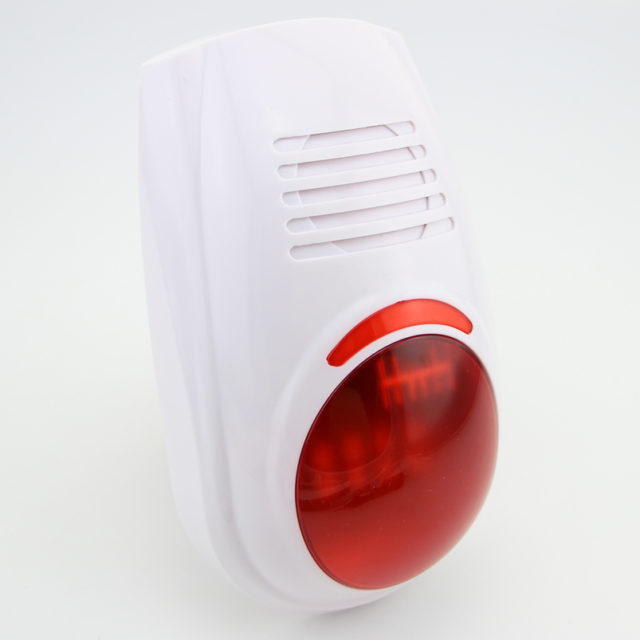 Wireless Waterproof Siren with Red Light 100dB
