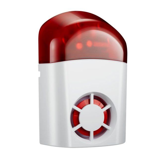 Waterproof Wireless Siren with LED Strobe