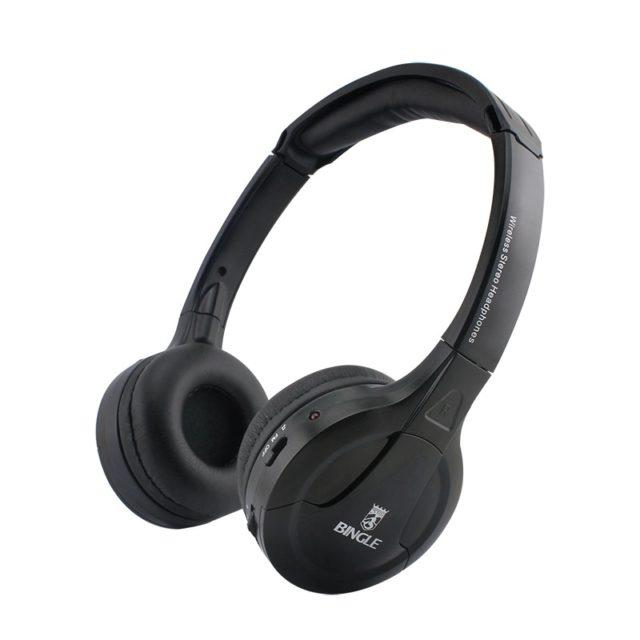 Black Wireless Headphones with FM Radio