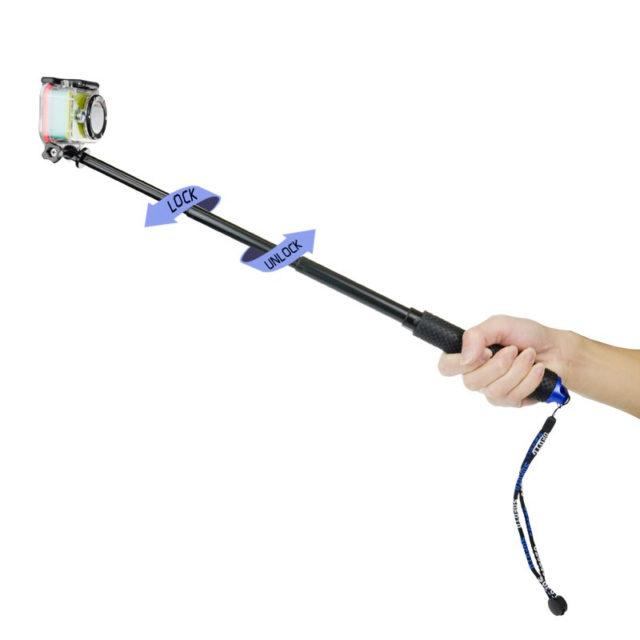 Telescopic Handheld Monopod for GoPro Hero