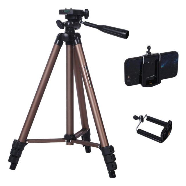 Lightweight Aluminum Camera and Phone Tripod