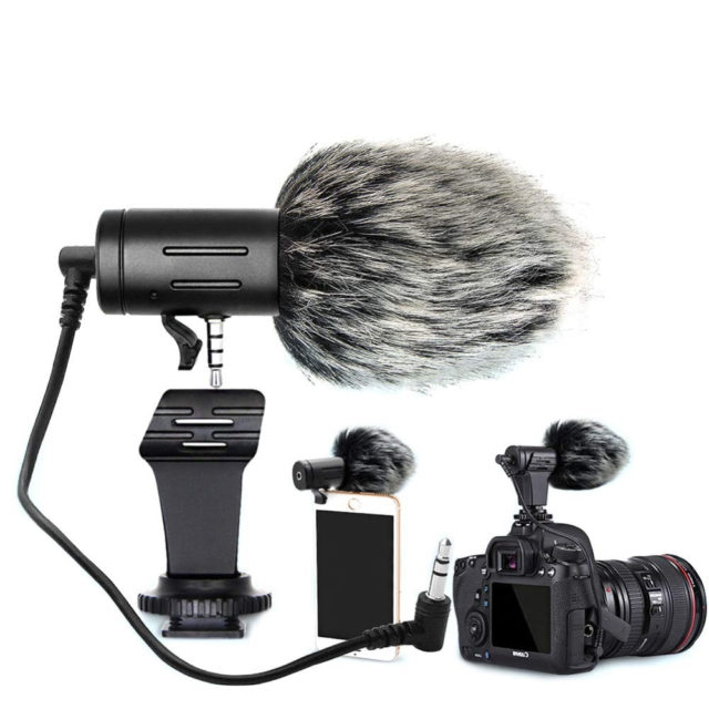 Portable 3.5 mm Microphone with Wind Shield