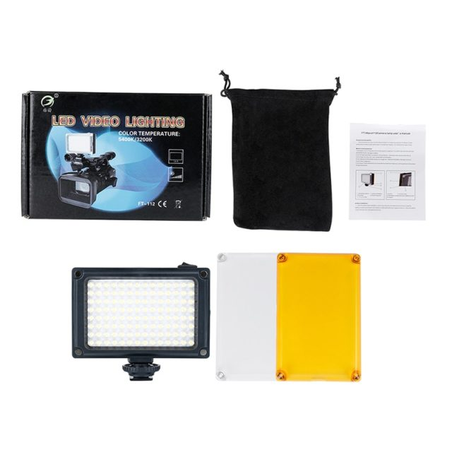 Dimmable LED Video Light with Filters
