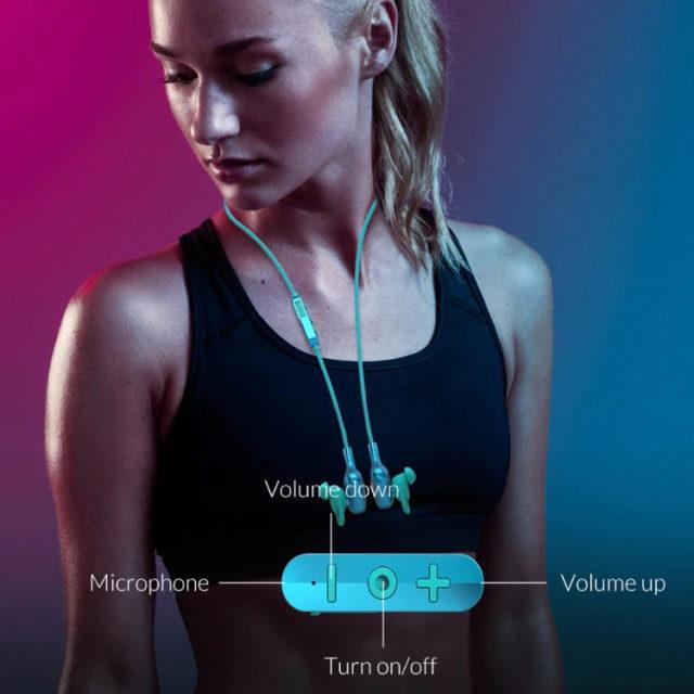 Blue Wireless Bluetooth Earphones