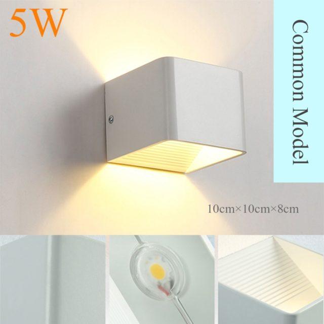 Modern Square Aluminum LED Lamp