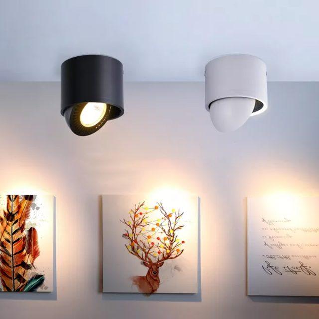 Round Aluminum Spotlight with LED Bulb